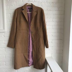 Banana Republic Wool Camel Peacoat jacket Coat